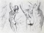 studies of a nude youth by john singer sargent painting