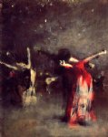 john singer sargent study for the spanish dance paintings