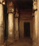 temple of denderah by john singer sargent painting