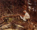 the artist sketching by john singer sargent painting