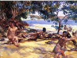 the bathers by john singer sargent painting