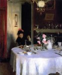 the breakfast table by john singer sargent painting