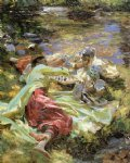 the chess game by john singer sargent painting
