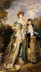 the countess of warwick and her son by john singer sargent painting