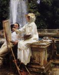 the fountain villa torlonia frascati italy by john singer sargent painting