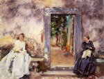 the garden wall by john singer sargent painting