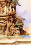 the great fountain of bologna by john singer sargent painting