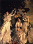 the ladies alexandra mary and theo acheson by john singer sargent painting
