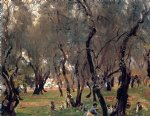 john singer sargent the olive grove painting