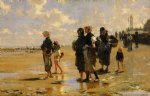 john singer sargent the oyster gatherers of cancale painting