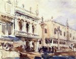john singer sargent the piazzetta and the doge s palace painting