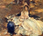 the pink dress by john singer sargent painting