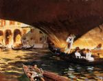 the rialto grand canal by john singer sargent painting