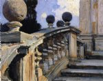 the steps of the church of s. s. domenico e siste in rome by john singer sargent painting