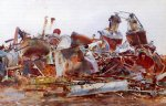 the wrecked sugar refinery by john singer sargent painting