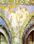 three nudes with cupid by john singer sargent painting