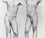 torsos of two male nudes by john singer sargent painting
