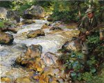 trout stream in the tyrol by john singer sargent painting