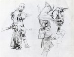 john singer sargent two studies for soldiers of gassed painting