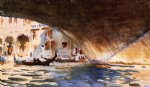 under the rialto bridge by john singer sargent painting