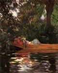 under the willows by john singer sargent painting