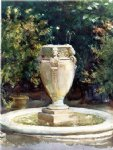 vase fountain pocantico by john singer sargent painting