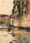 venetian canal palazzo corner by john singer sargent painting
