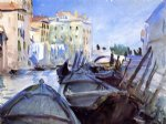 venetian canal scene by john singer sargent painting