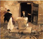 venetian water carriers by john singer sargent painting