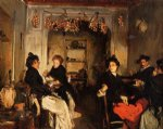venetian wineshop by john singer sargent painting