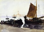 venice sailing boat by john singer sargent painting
