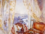 view from a window genoa by john singer sargent painting
