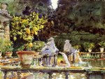 villa de marlia a fountain by john singer sargent painting
