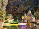 villa di marlia lucca by john singer sargent painting