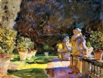villa di marlia lucca by john singer sargent paintings-30926