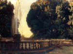 villa torlonia fountain by john singer sargent painting