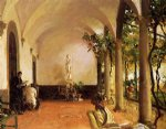 villa torre galli the loggia by john singer sargent painting