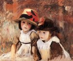 john singer sargent village children oil painting