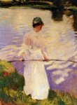 violet fishing by john singer sargent painting