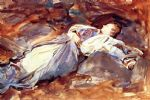 violet sleeping by john singer sargent painting