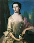 portrait paintings - portrait of a woman by john singleton copley