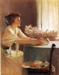 john white alexander a meadow flower painting 30028