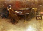 john white alexander at the piano oil painting