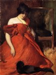 black and red by john white alexander painting