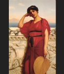 a classical lady by john william godward painting