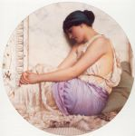 a grecian girl by john william godward painting