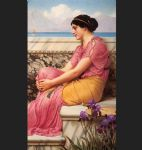 absence makes the heart grow fonder by john william godward painting