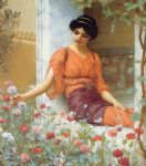 john william godward summer flowers painting 82968