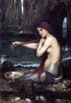 a mermaid by john william waterhouse painting