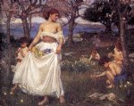 john william waterhouse a song of springtime painting